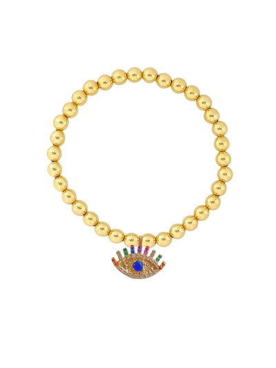 Everyday Stretch Bracelet - 5mm Evil Eye
