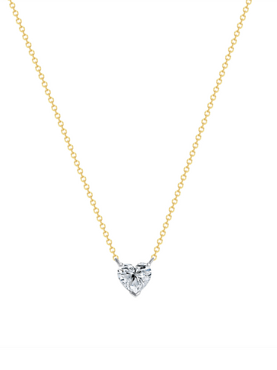 leMel Custom Diamond Heart Necklace 14k