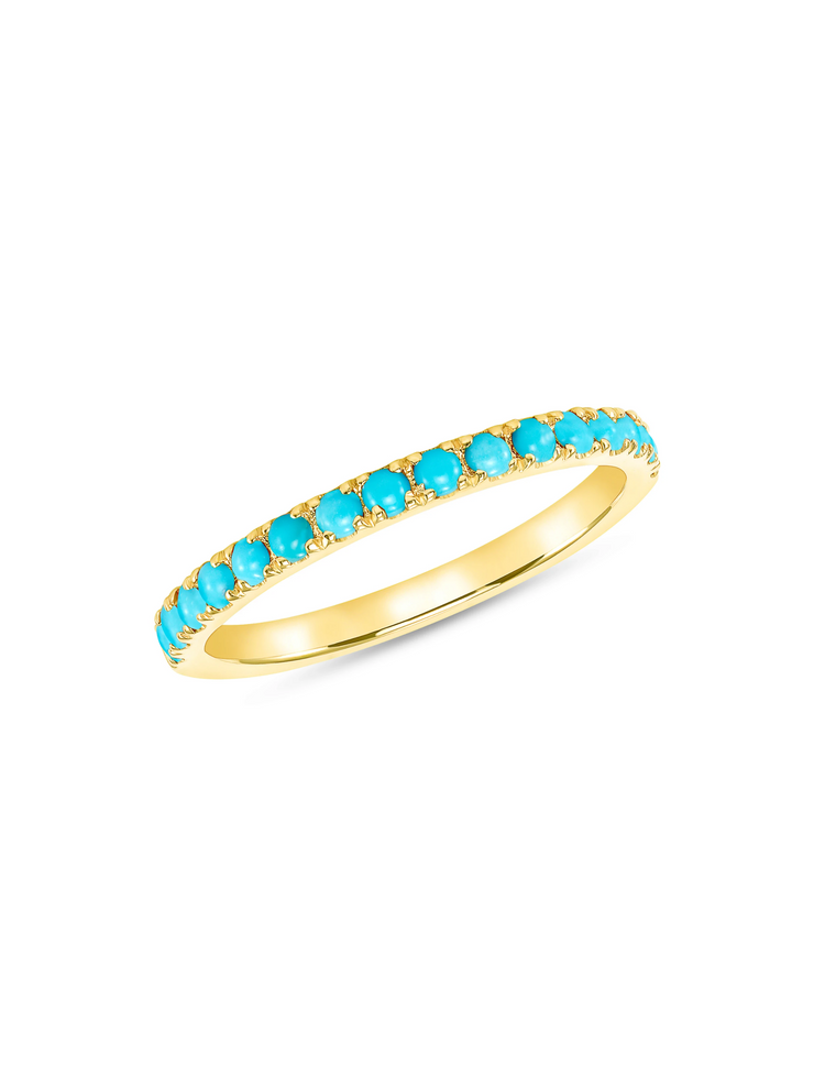 Rodeo Turquoise Band 14k