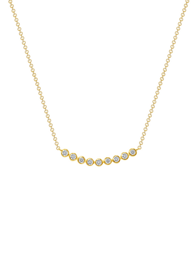 Annie Diamond Smile Necklace 14k