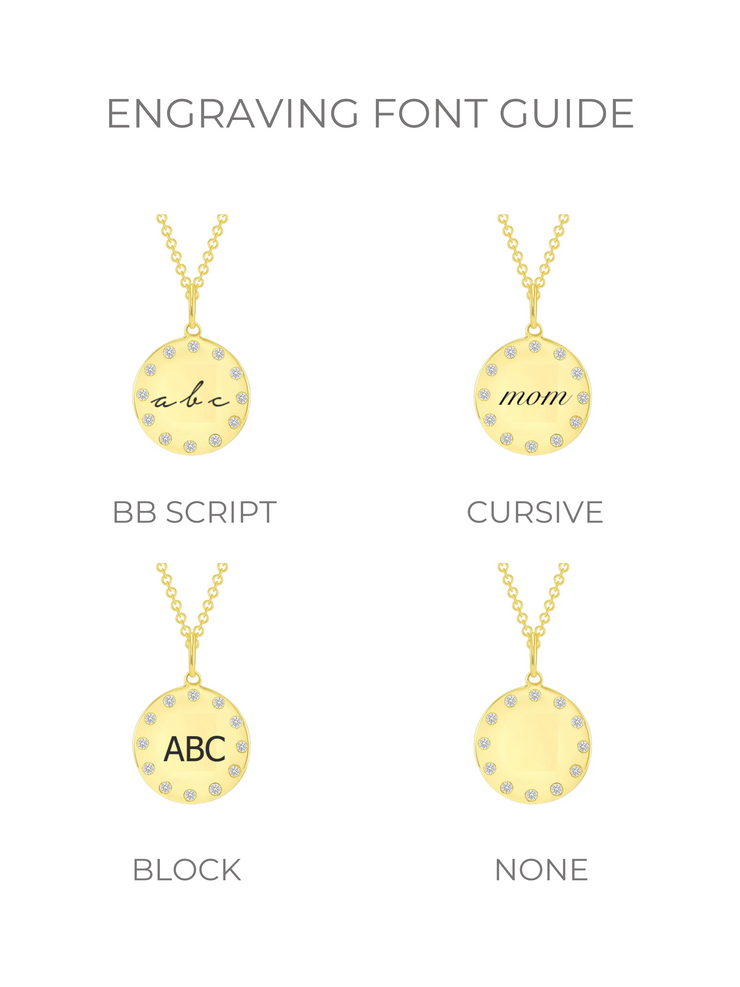 BB Memory Disc Necklace