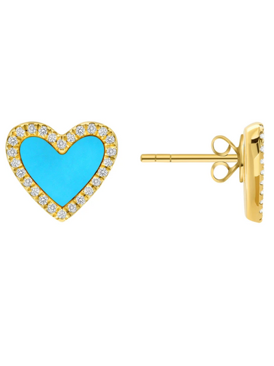 Telluride Diamond Heart Earrings 14k