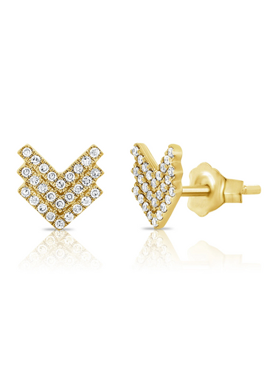 Vivian Diamond Chevron Earrings 14k