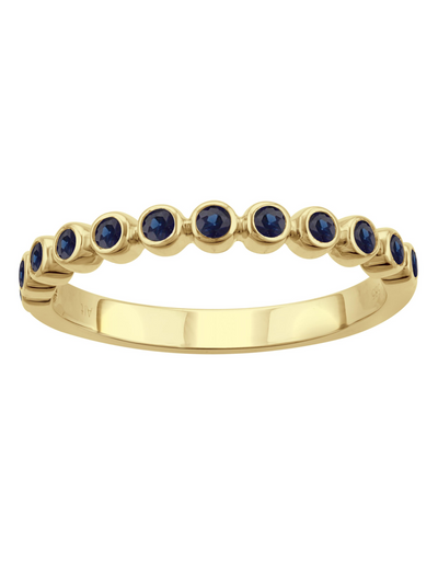 Anniversary Band in Blue Sapphire 14k
