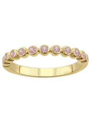 Anniversary Band in Pink Sapphire 14k