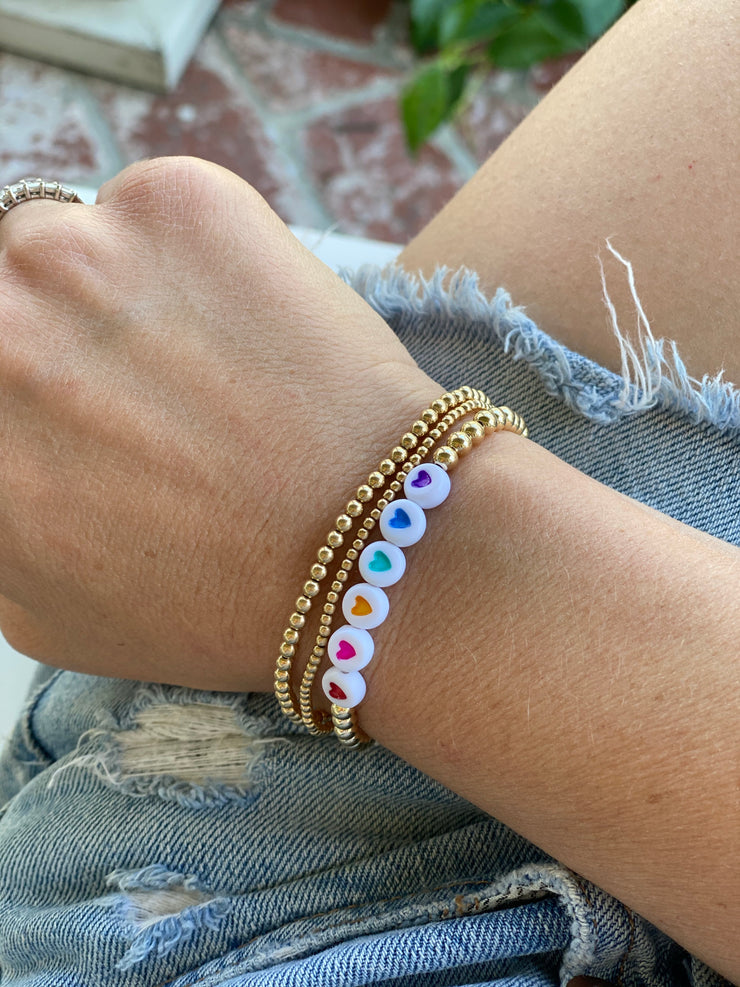 Rainbow Hope Everyday Stretch Bracelet