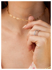 Paperclip 'S' Chain Necklace  - Gold Fill