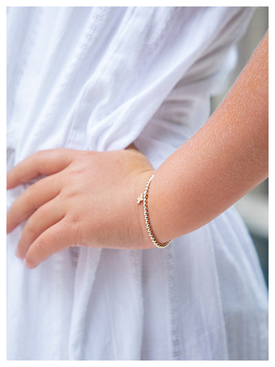 Kid Stretch Bracelet with Cross Charm