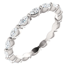 Marquise Diamond Eternity Band - 14k Gold