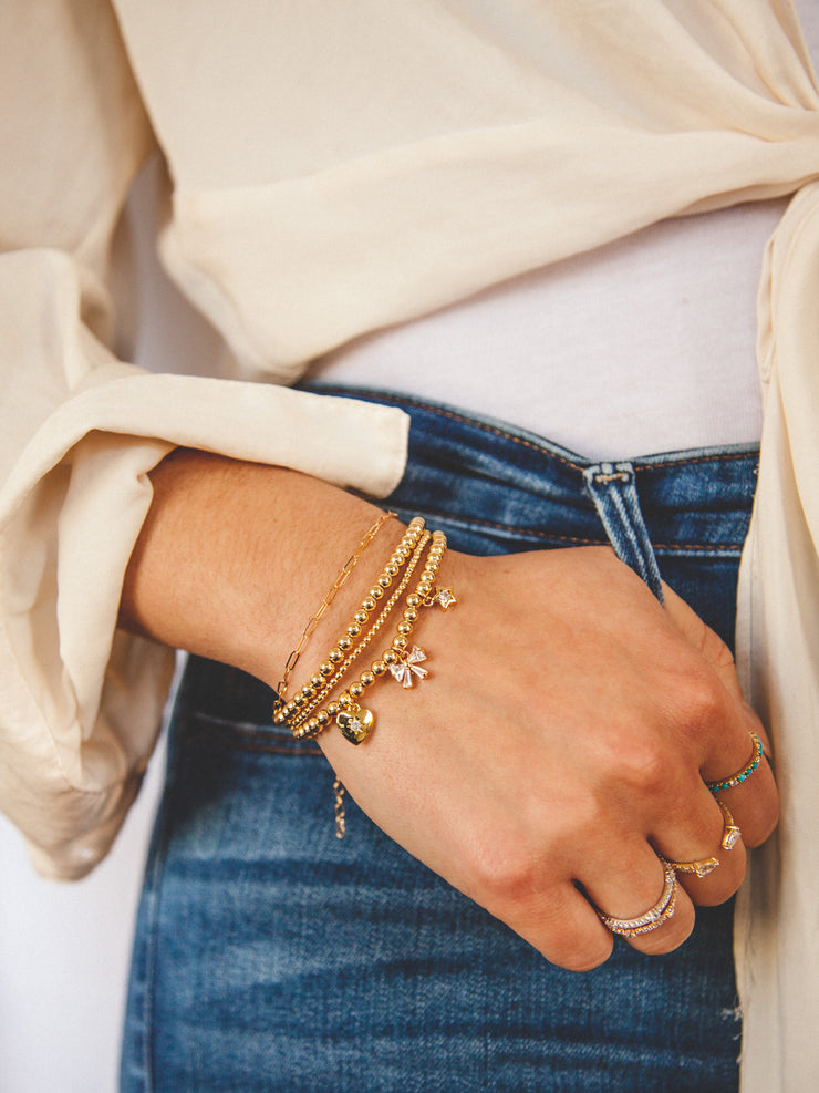 Add A Charm to Everyday Stretch Bracelet