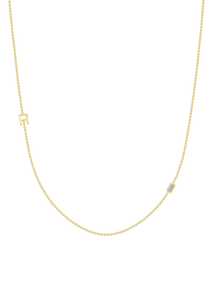 The Initial Necklace - 1 Letter 14k Gold