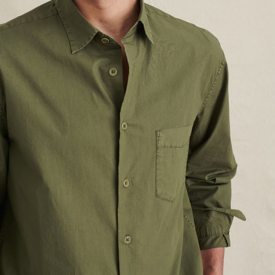 Olive - Button Down- Paper-cotton -long sleeve
