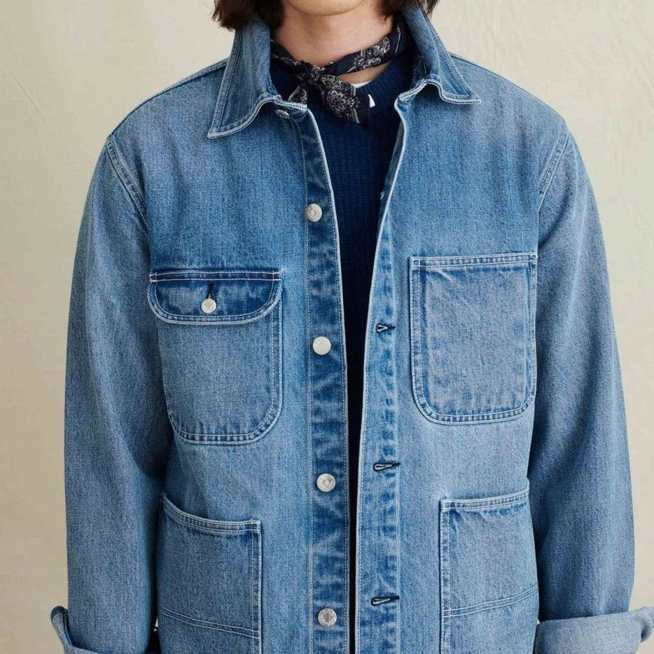 Work Jacket in Vintage Washed Denim