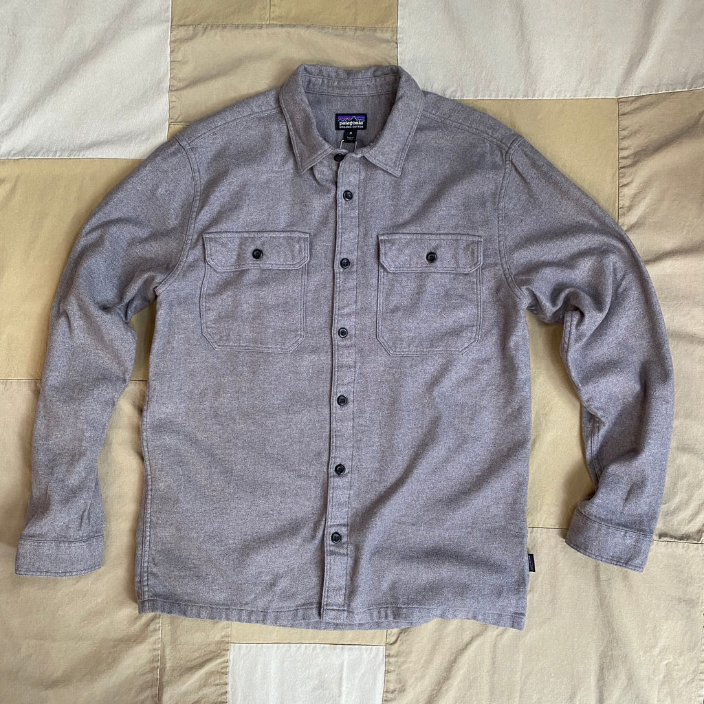 Fjord Flannel Natural Dye L/S Button Down, Hex Grey