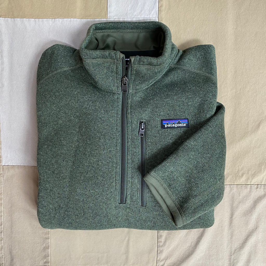 Better Sweater 1/4 Zip Fleece, Industrial Green
