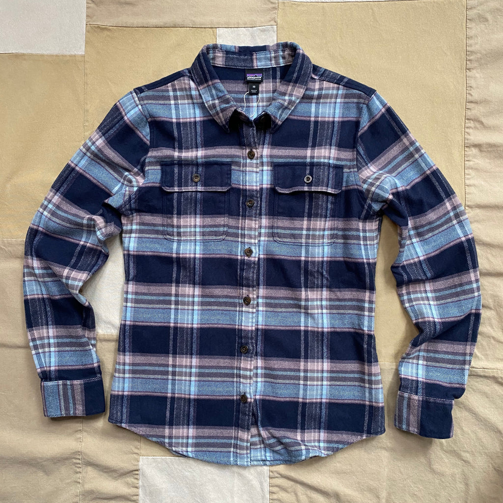 Womens Fjord Flannel, Smolder Blue