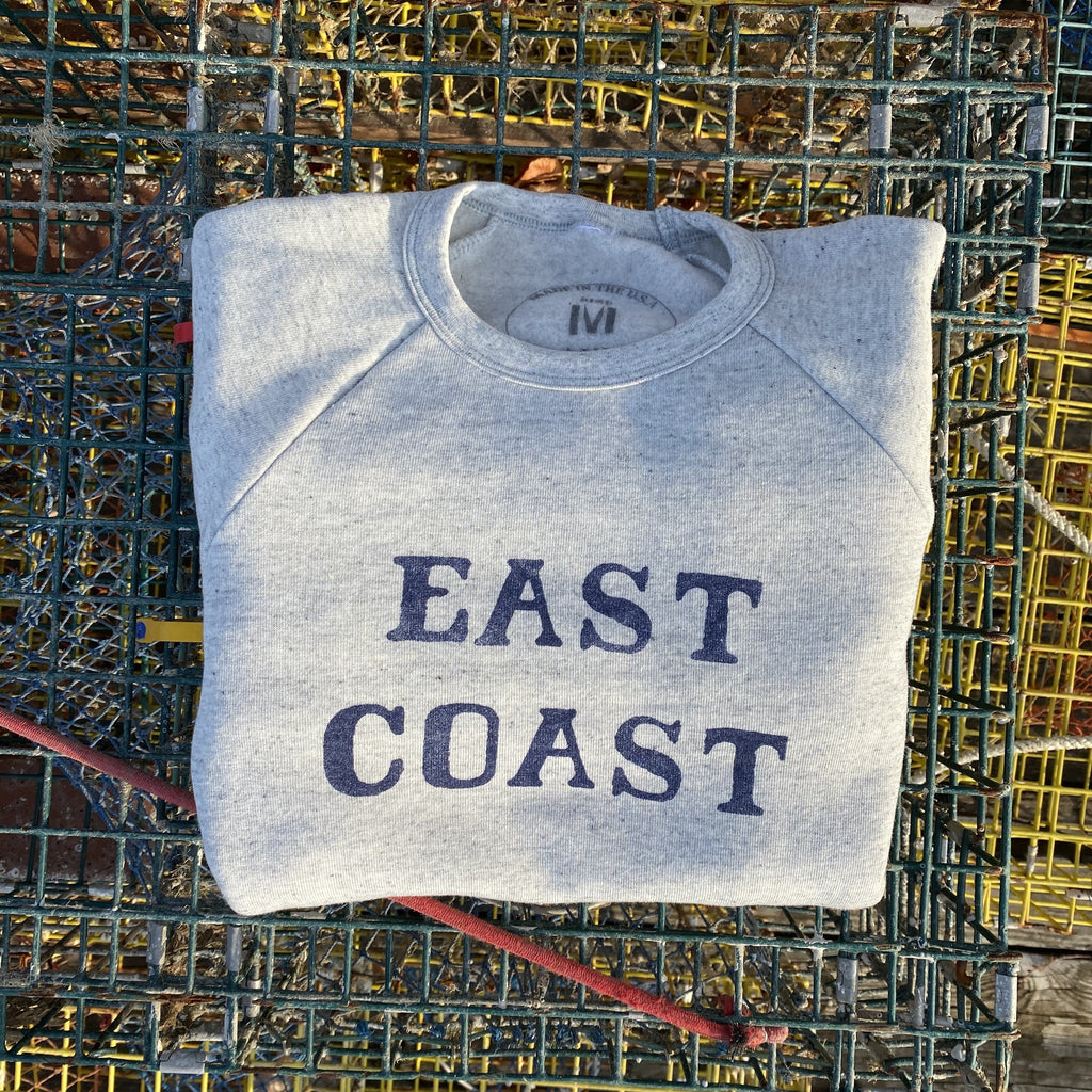 East Coast Crewneck Sweatshirt, Ash / Blue