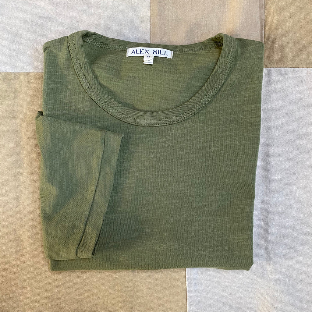 Alex Mill Standard Slub Cotton T-Shirt, Military Green