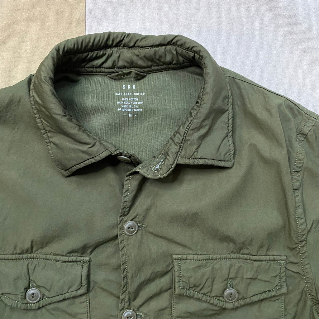 Fleece Lined Shirt Jacket, Olive