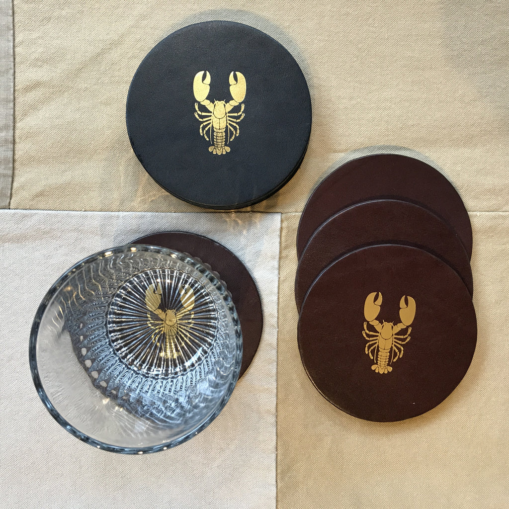 Leather SAULT Lobster Coaster