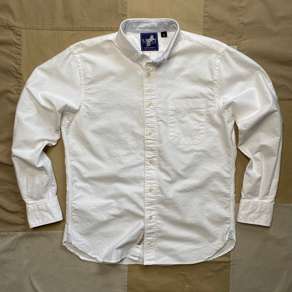 Classic Long Sleeve Oxford Shirt, White