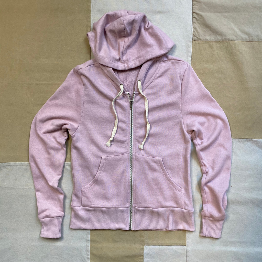 Women's French Terry Zip-Hoodie, Mauve Pink