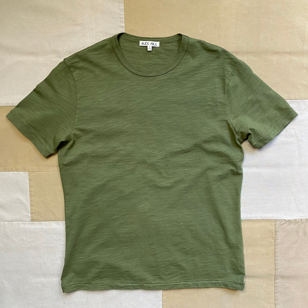 Alex Mill Standard Slub Cotton T-Shirt, Army Olive