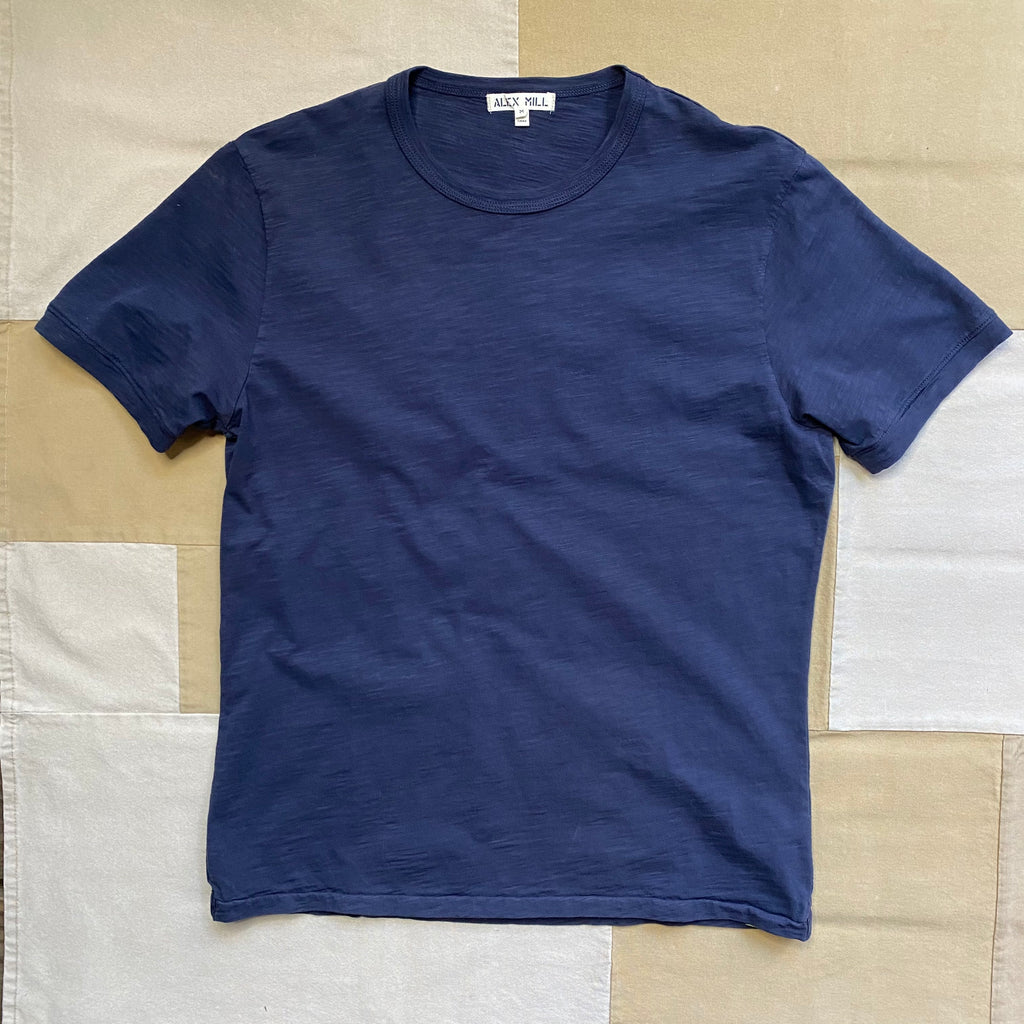 Alex Mill Standard Slub Cotton T-Shirt, Navy
