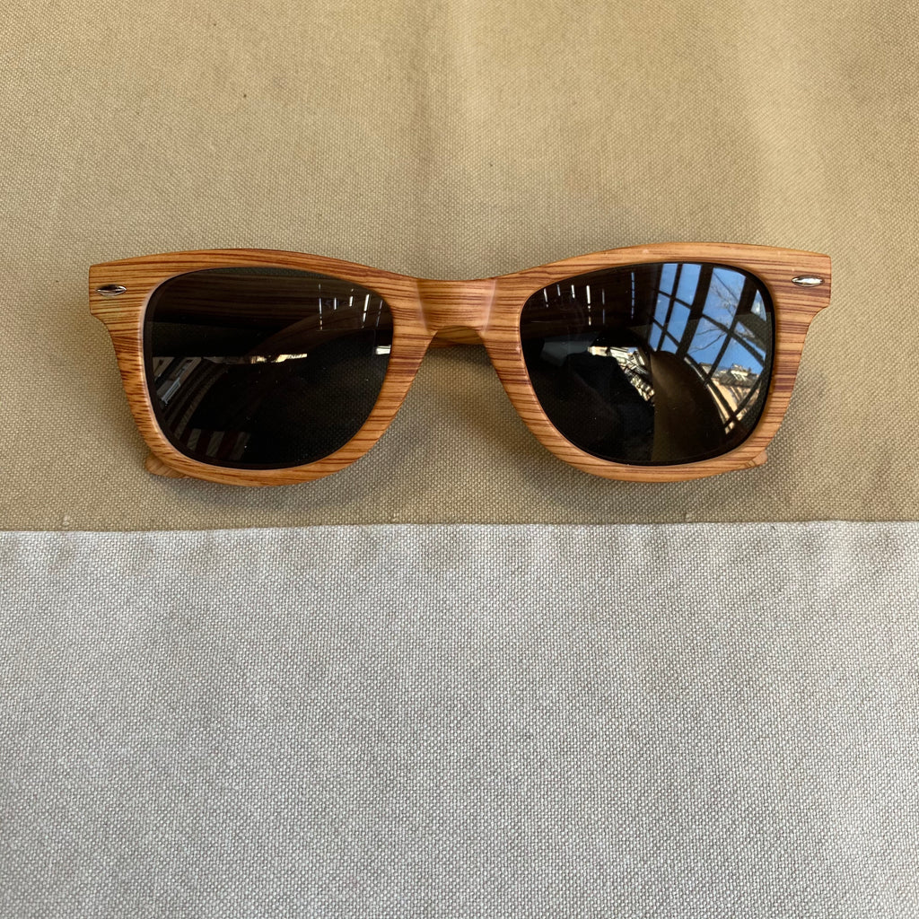 Blonde Faux Wood Sunglasses