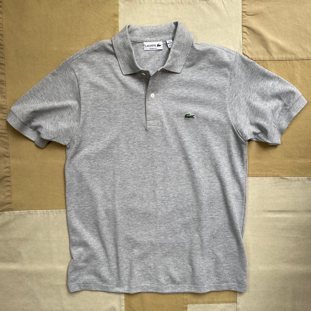 Classic Fit Polo, Silver