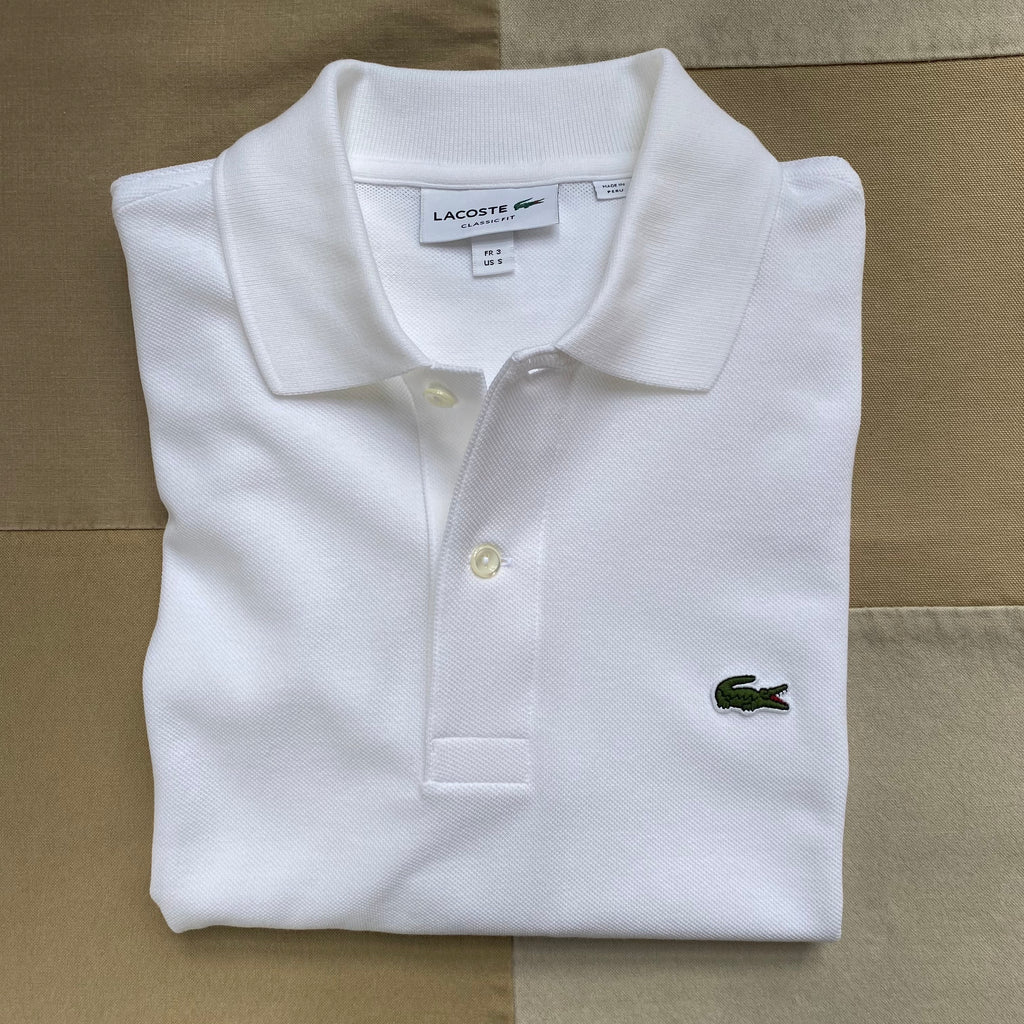 Classic Fit Polo, White