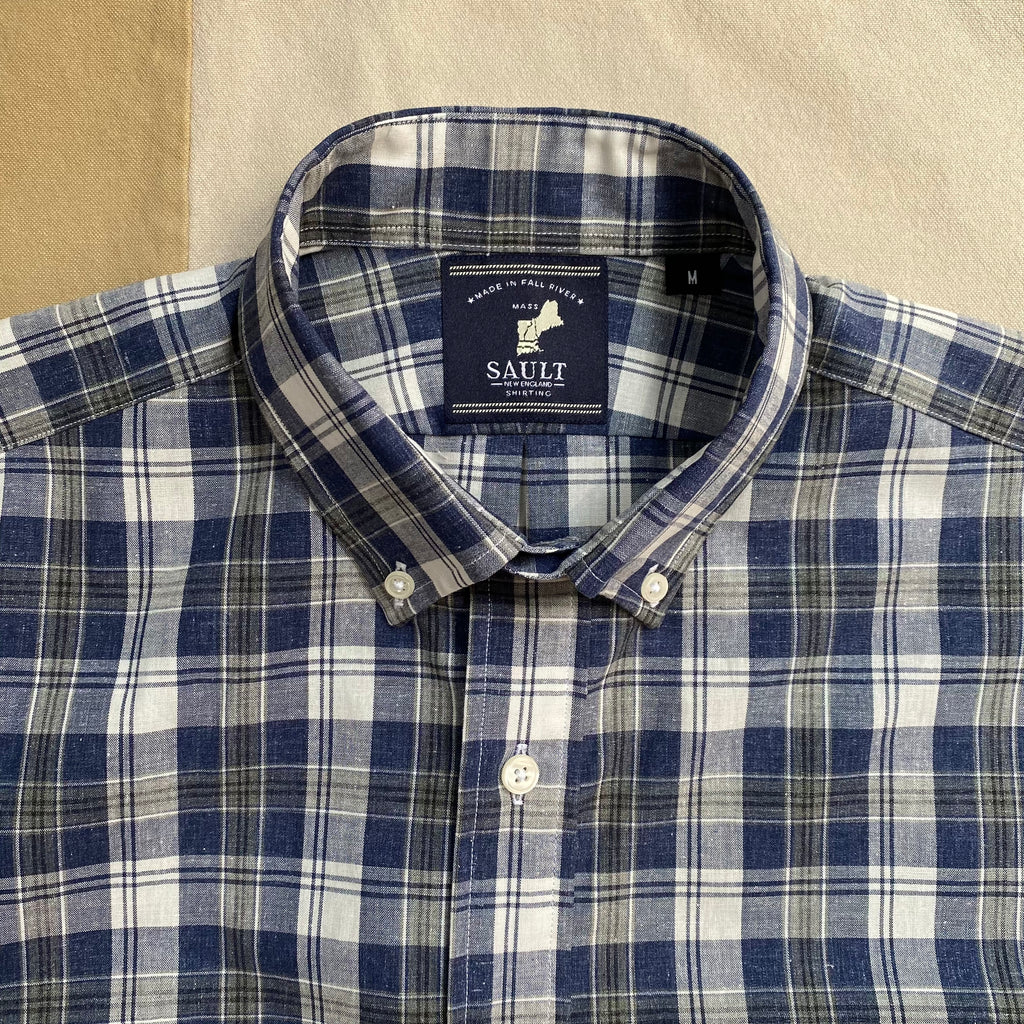 Short Sleeve Plaid Button Down, Portsmouth Tartan