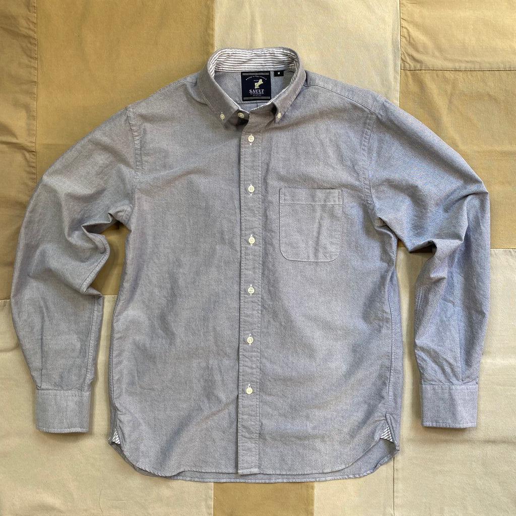 Classic Long Sleeve Oxford Shirt, Granite