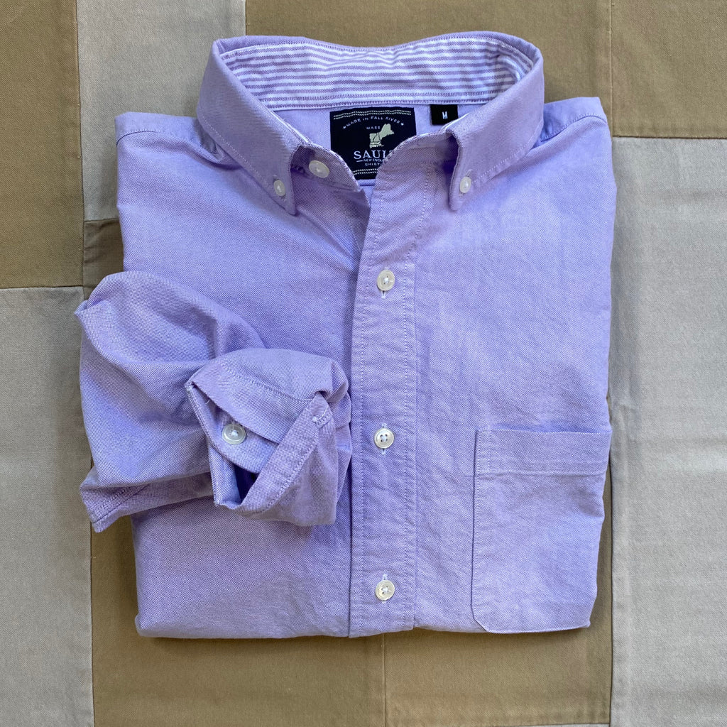 Classic Long Sleeve Oxford Shirt, Lavender
