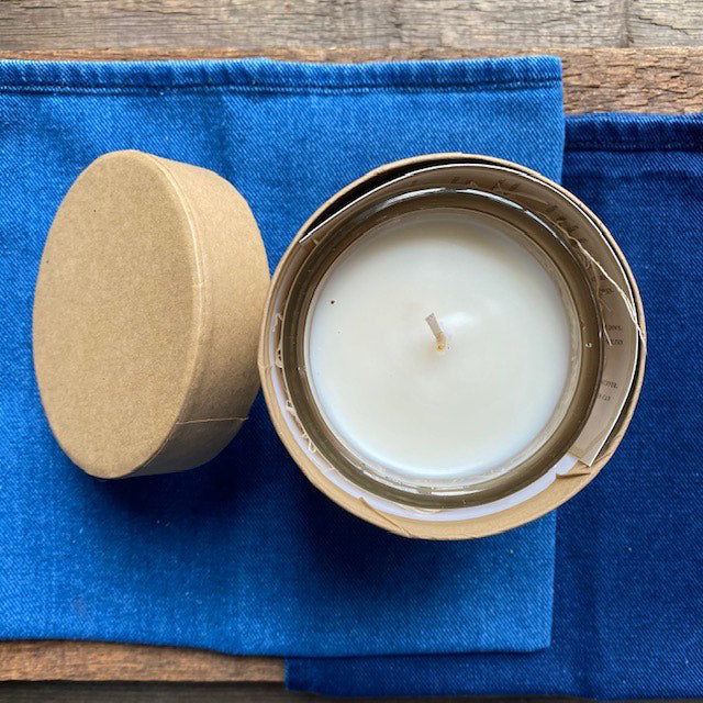 Blue Jeans, White Shirt Glass Candle By WTTTW