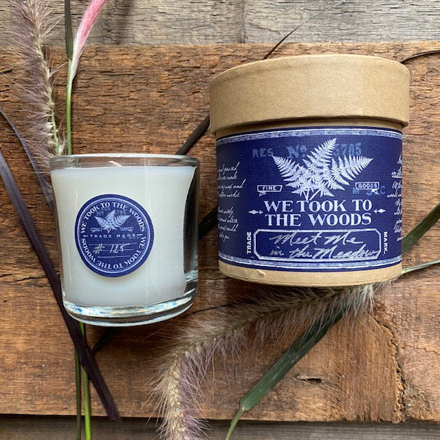 Meet me in the Meadow Glass Candle By WTTTW