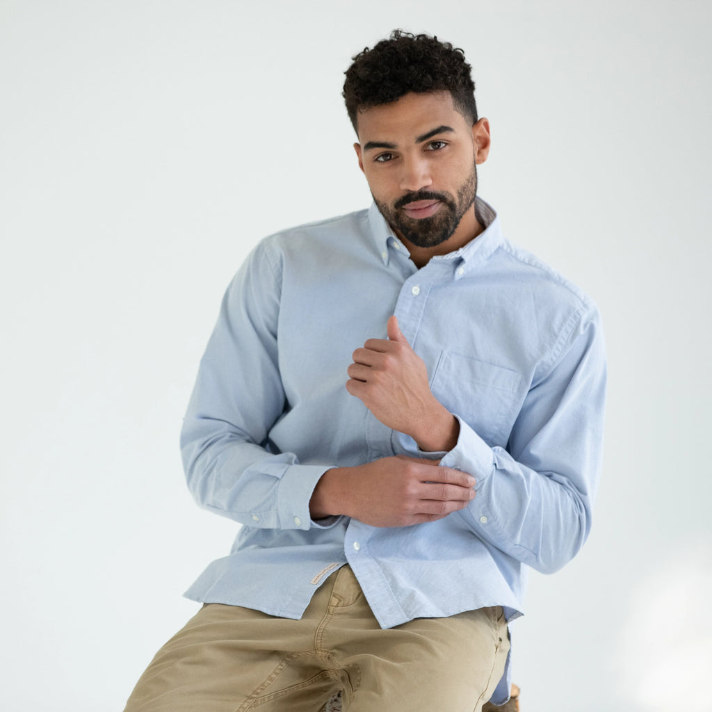 Classic Long Sleeve Oxford Shirt, Blue