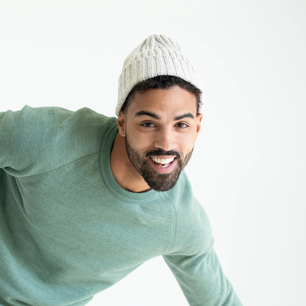 Rib Cotton Stitch Beanie