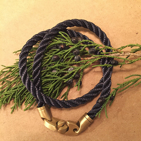 Double Navy/Brass