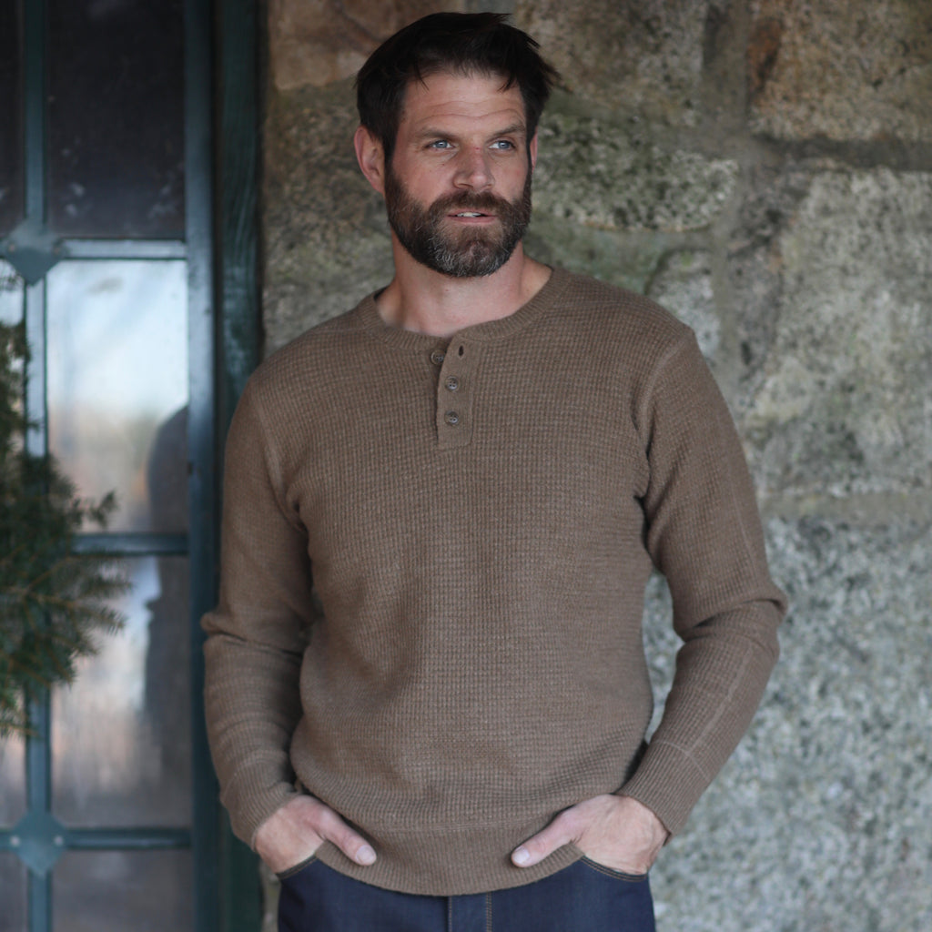 Henley Sweater, Camel