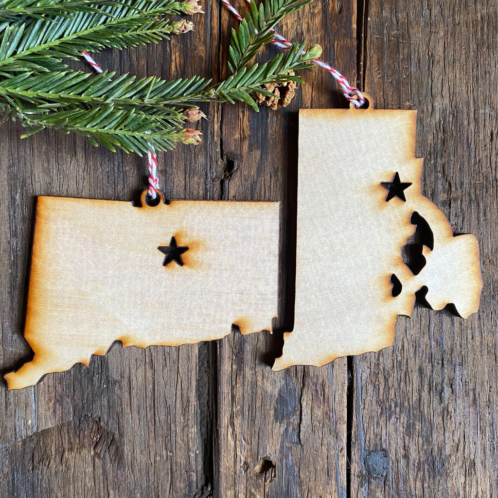 New England States Ornaments