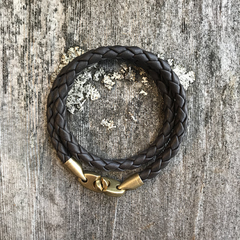 Journey Double Leather Rope with Brass Hardware