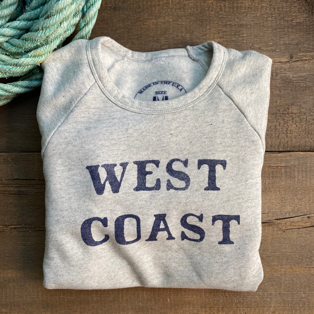 West Coast Sweatshirt, Ash / Blue