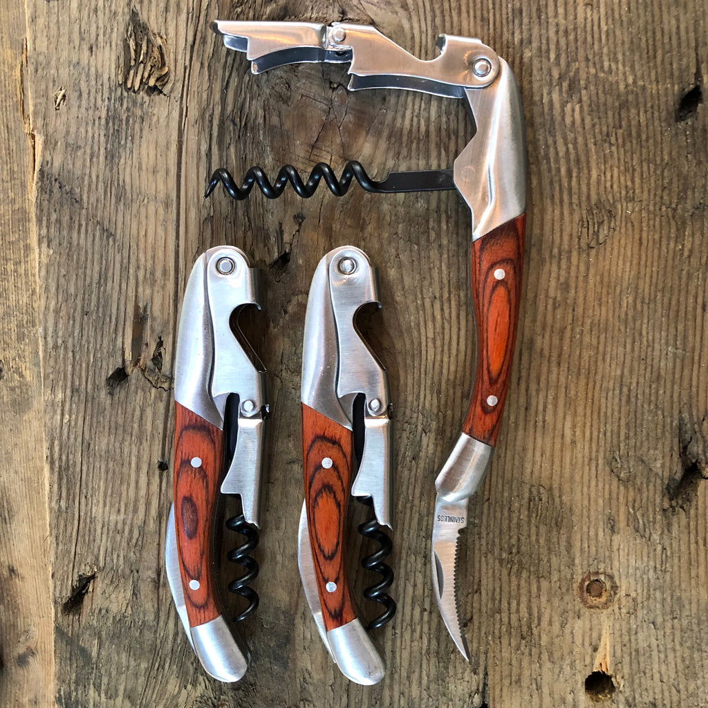 Wood Professional Corkscrew & Bottle Opener