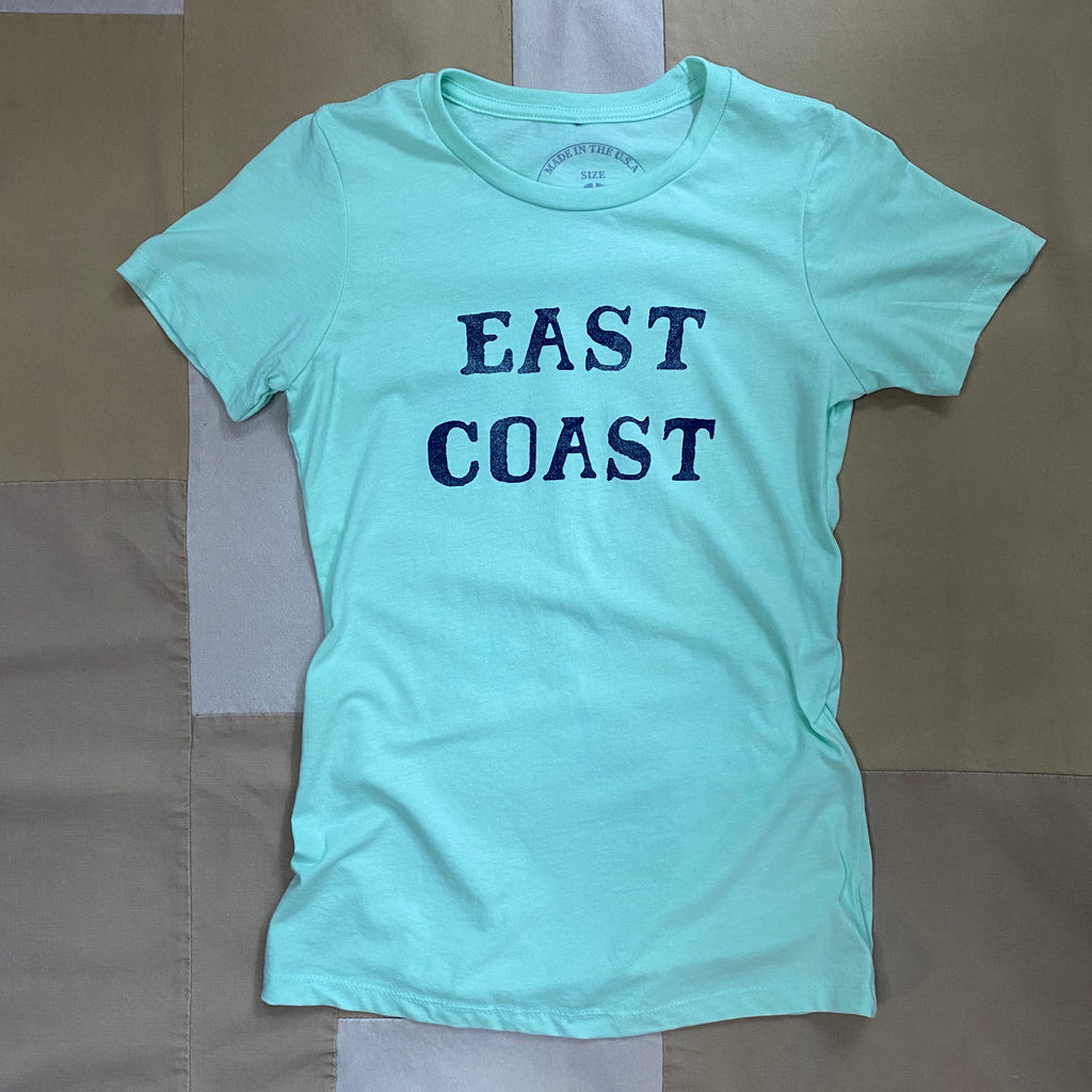 Women's East Coast Crewneck T-Shirt, Seafoam
