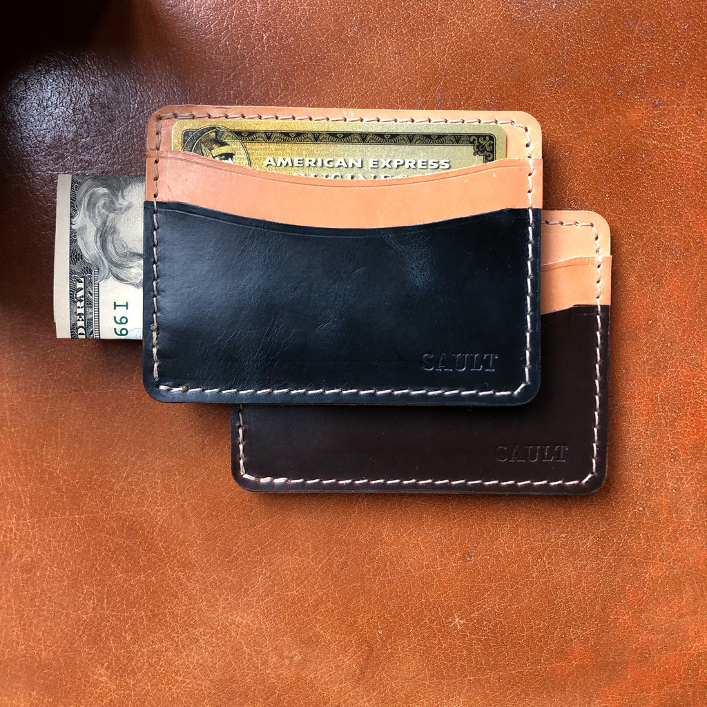Two Tone Middle Man Card Wallet