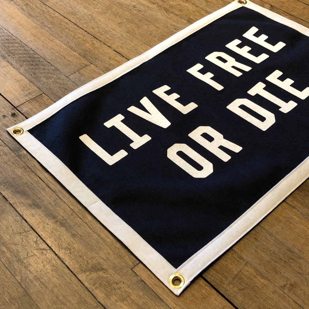 Live Free or Die Camp Flag