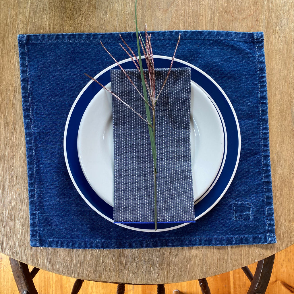 Denim Dobby Chambray Napkins