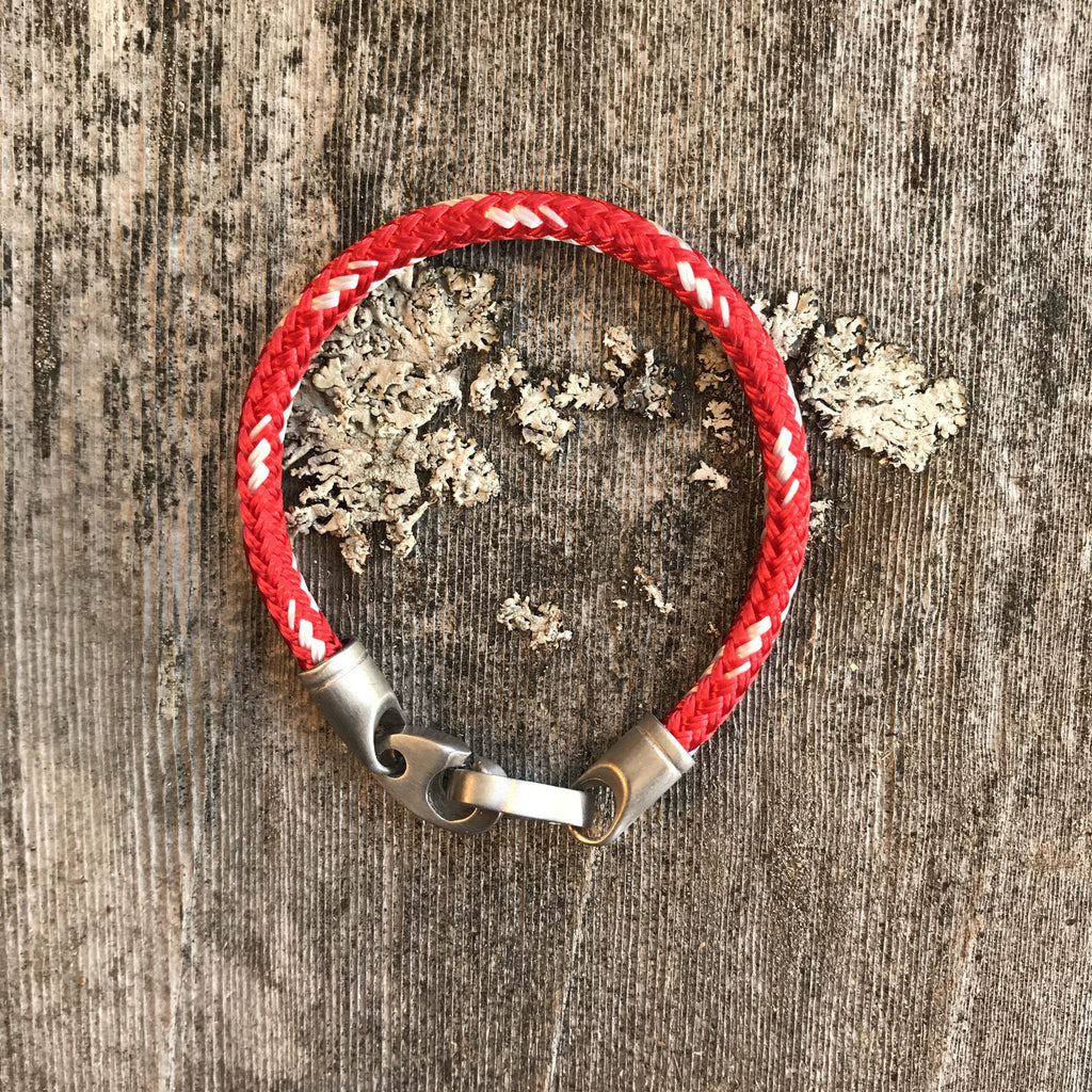 Contender Single Rope - Red/White/Silver