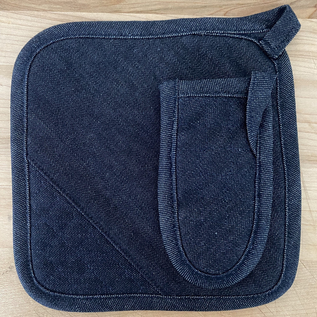 Pot Holder, Indigo Raw Denim